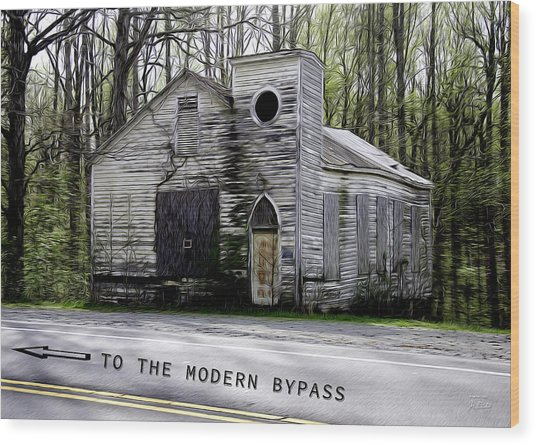To The Modern Bypass Wood Print