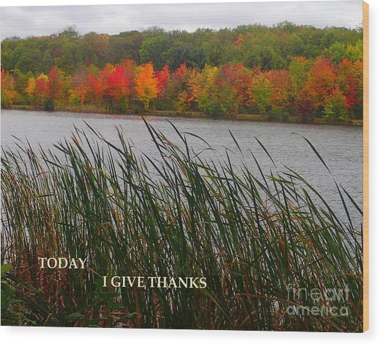 Today I Give Thanks Wood Print