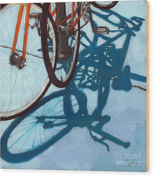 Together - City Bikes Wood Print