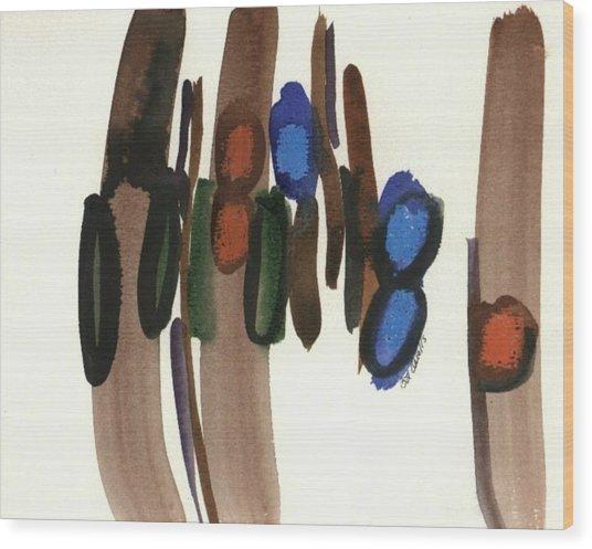 Together Wood Print by B L Qualls