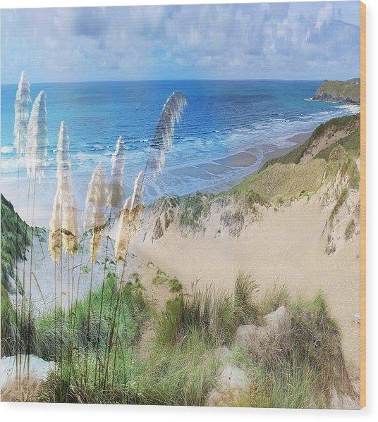 Toi Tois In Coastal  Sandhills Wood Print