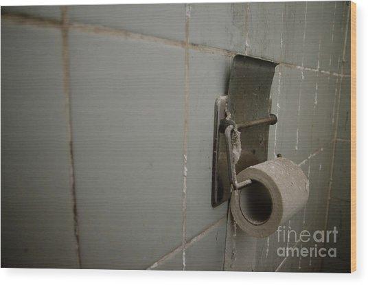 Toilet Paper Wood Print