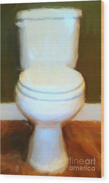 Toilet Wood Print by Wingsdomain Art and Photography