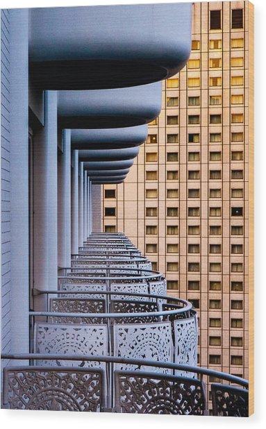 Tokyo Balconies Wood Print