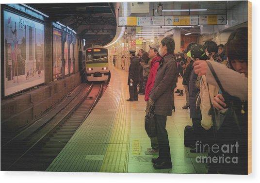 Tokyo Metro, Japan Wood Print