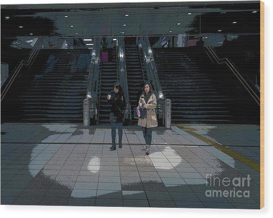 Tokyo Metro, Japan Poster Wood Print