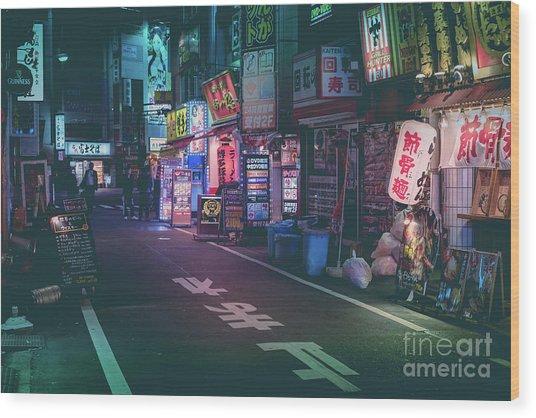 Tokyo Side Streets, Japan Wood Print