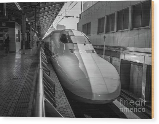 Tokyo To Kyoto Bullet Train, Japan 3 Wood Print