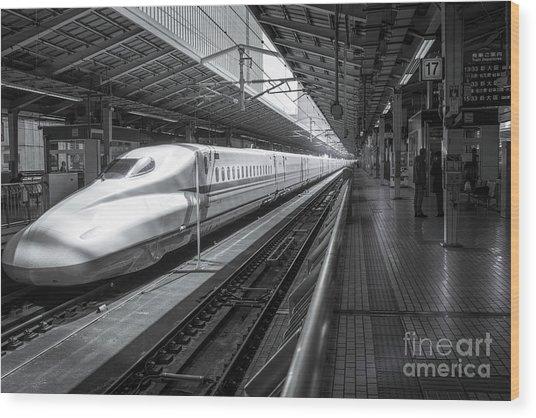 Tokyo To Kyoto, Bullet Train, Japan Wood Print