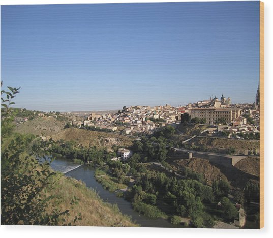 Toledo And The Country Side Wood Print