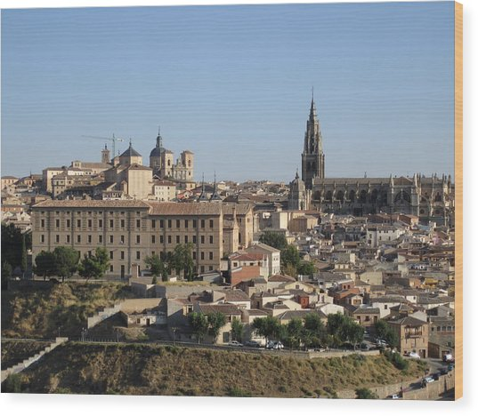 Toledo Cathedral Wood Print
