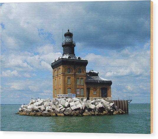 Toledo Harbor Lighthouse Wood Print