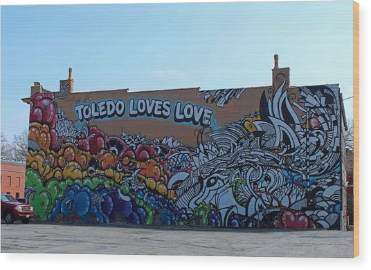 Toledo Loves Love Wood Print