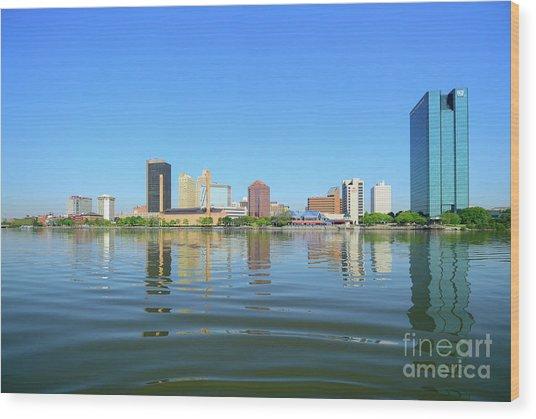 D12u-673 Toledo Ohio Skyline Photo Wood Print