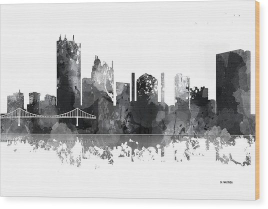 Toledo Ohio Skyline Wood Print
