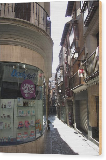 Toledo Window Shopping Wood Print