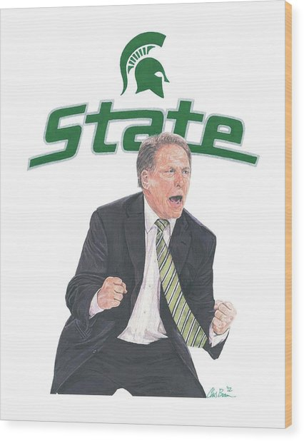 Tom Izzo Wood Print