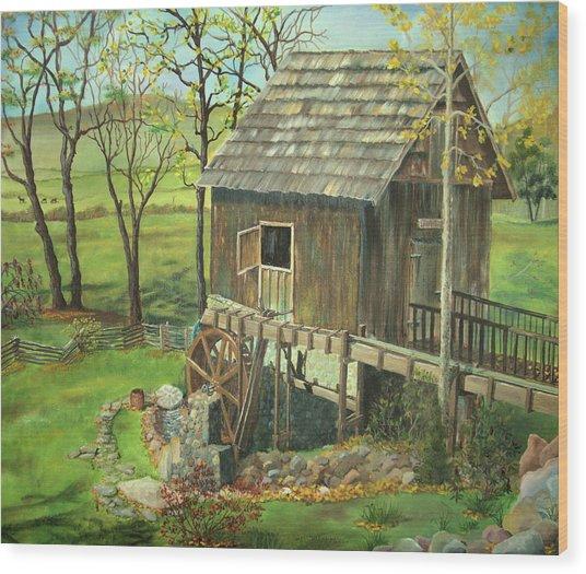Tom Lott's Mill In Georgia Wood Print