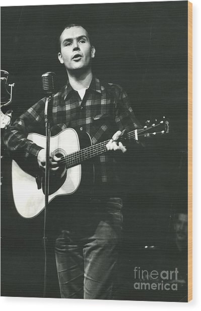 Tom Paxton Wood Print