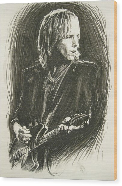 Tom Petty 1 Wood Print