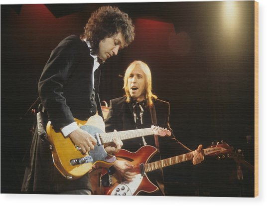 Tom Petty And Mike Campbell Wood Print