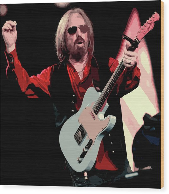 Tom Petty, Hypnotic Eye Wood Print