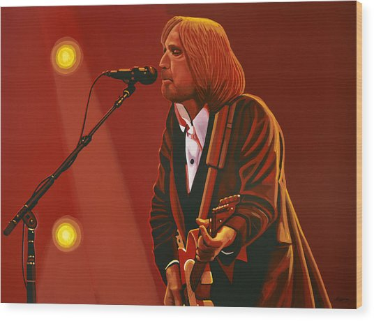 Tom Petty Wood Print