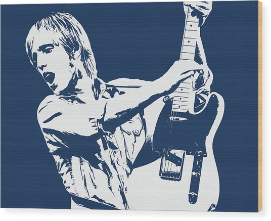 Tom Petty - Portrait 02 Wood Print