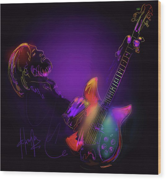 Tom Petty Tribute 1 Wood Print