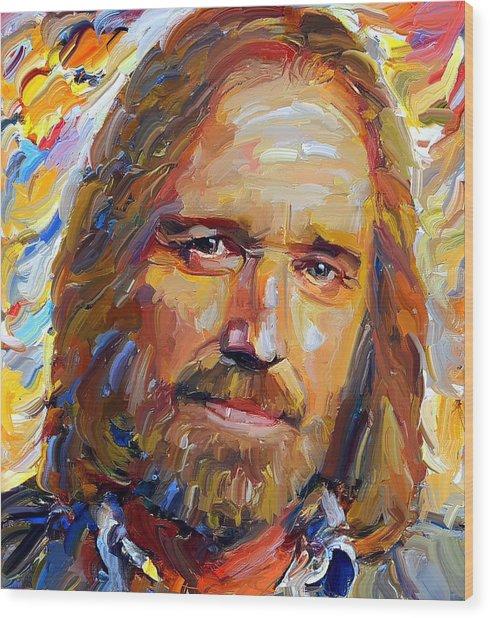 Tom Petty Tribute Portrait 1 Wood Print