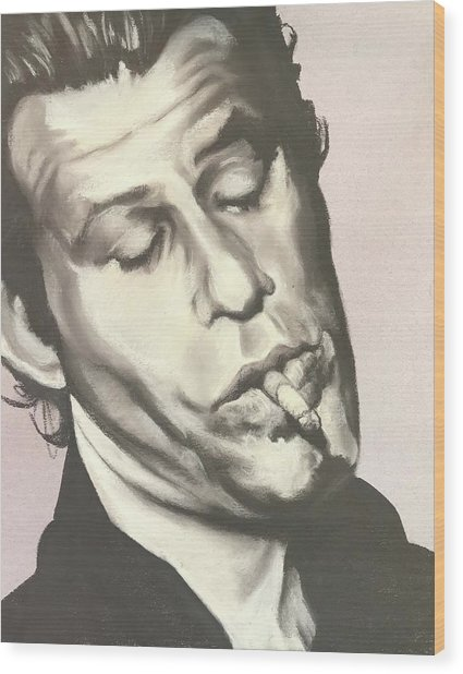Tom Waits A Wood Print