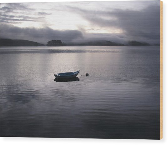Tomales Bay At Sunset Wood Print