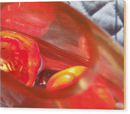 Tomatoe Red Wood Print