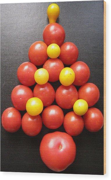 Tomatoe Tree Wood Print by Jeanette Oberholtzer