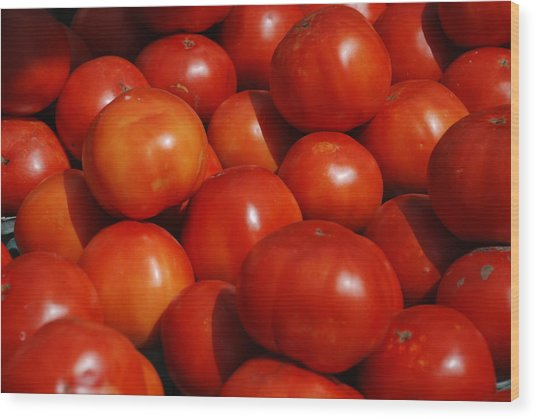 Tomatoes Wood Print by William Thomas