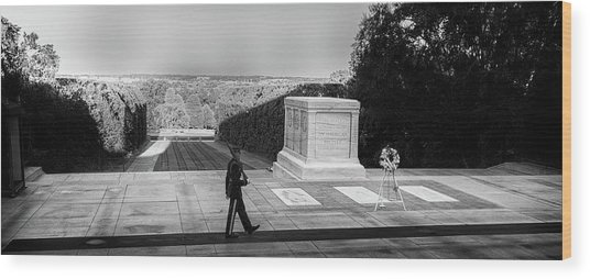 Tomb Of The Unknown Wood Print