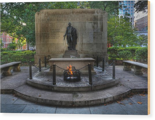 Tomb Of The Unknown Revolutionary War Soldier - George Washington  Wood Print