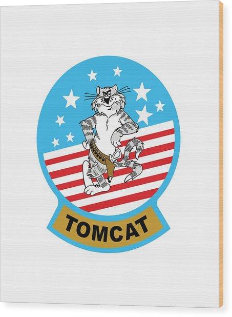 Tomcat Wood Print