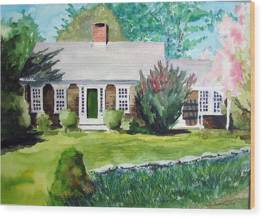 Toms House Wood Print by Ron Imbriglio