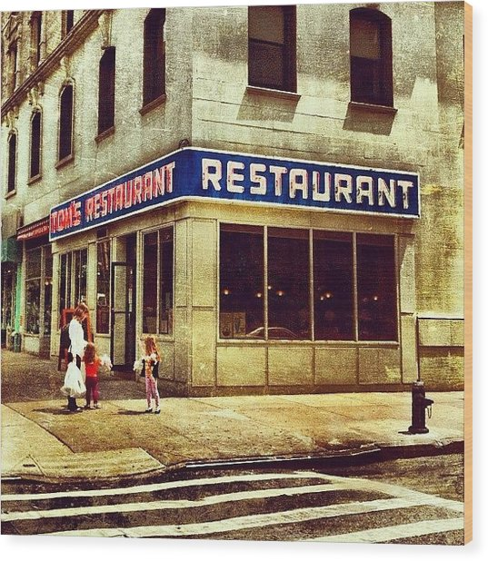 Tom's Restaurant. #seinfeld Wood Print by Luke Kingma