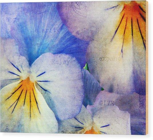 Tones Of Blue Wood Print