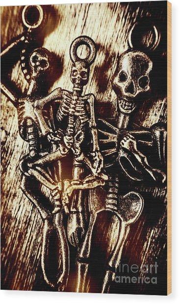 Tones Of Halloween Horror Wood Print