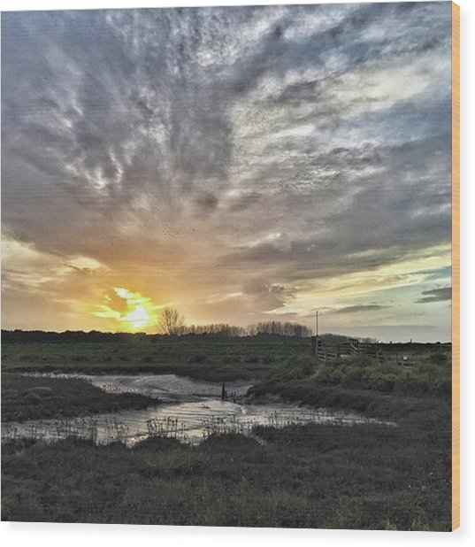 Tonight's Sunset From Thornham Wood Print