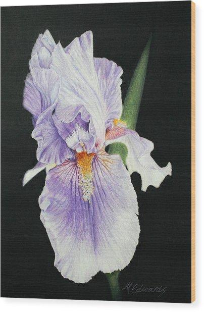 Tonto Basin Iris Wood Print