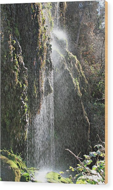 Tonto Waterfall Splash Wood Print
