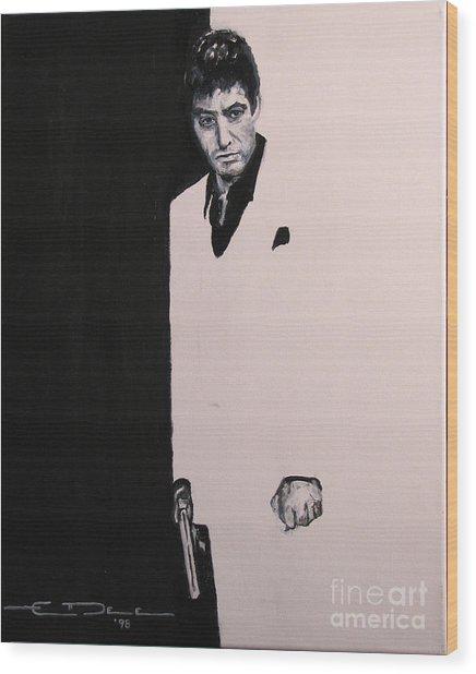 Tony Montana - Scarface Wood Print