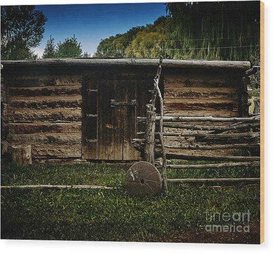 Tool Shed Wood Print