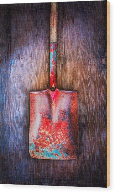 Tools On Wood 47 Wood Print