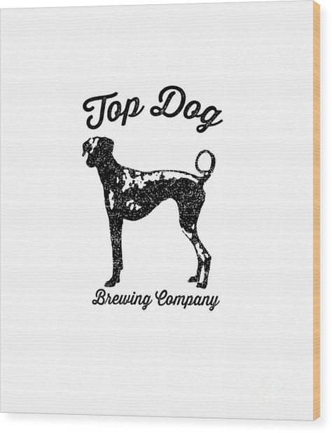 Top Dog Brewing Company Tee Wood Print