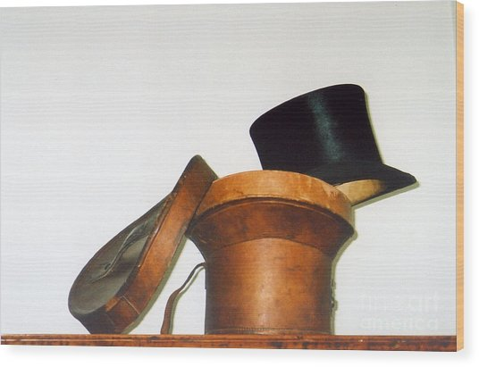 Top Hat Wood Print by Andrea Simon